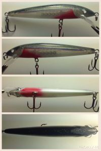 Bleeding Silver Shad With Fiber-Eyes Rapala Husky Jerk 5