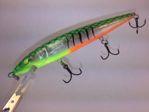Fire Glass Tiger With Fiber-Eyes Rapala Husky Jerk
