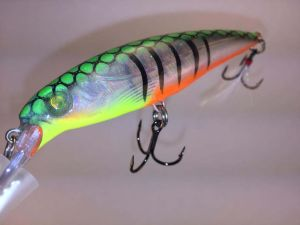 Fire Glass Tiger With Fiber-Eyes Rapala X-Rap 1