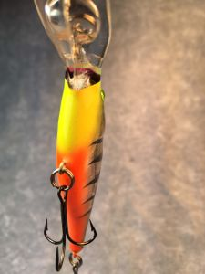 Fire Glass Tiger With Fiber Eyes Berkley Flicker Shad 4