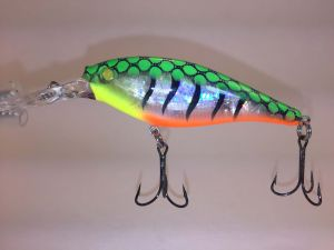 Fire Glass Tiger With Fiber Eyes Berkley Flicker Shad 8
