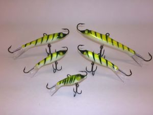 Go Pack Eyelash Glow Tiger Rapala Jigging Rap 4