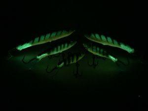 Go Pack Eyelash Glow Tiger Rapala Jigging Rap 7