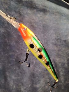 Green-Back Hunter With Fiber-Eyes Berkley Flicker Minnow