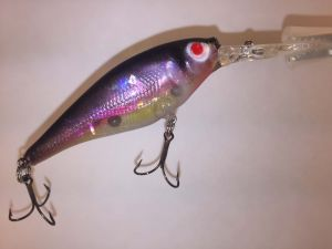 Natural Rainbow Smelt With Fiber-Eyes Berkley Flicker Shad