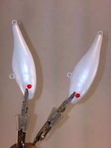 Pearl Ghost With Fiber-Eyes Rapala Shad Rap