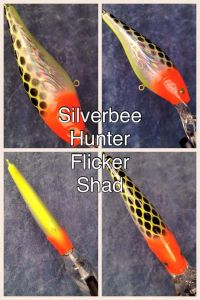 Silverbee Hunter With Fiber-Eyes Berkley Flicker Shad